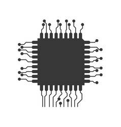 microchip circuit technology vector image vector image