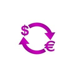 Money convert icon euro dollar vector
