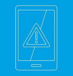Not working phone icon outline style vector