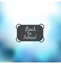 School icon on blurred background vector