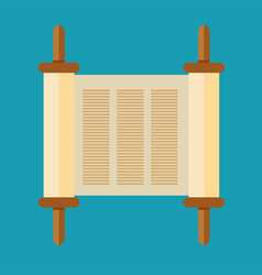 Torah scroll icon in flat style vector