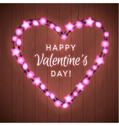 Valentine s day background with bright lights vector