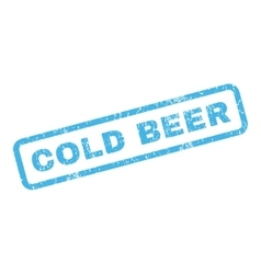 Cold beer rubber stamp vector