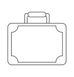 Travel suitcase modern style equipment thin line vector