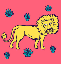 lion cartoon set collection vector image
