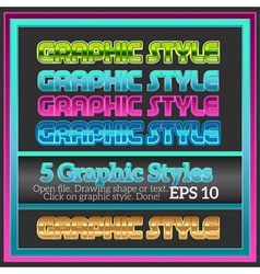 Set of colorful graphic styles for various design vector
