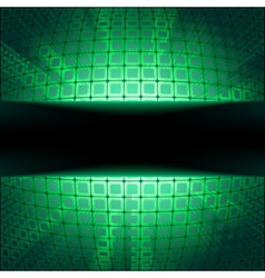 Sphere with green illumination EPS 8 vector image