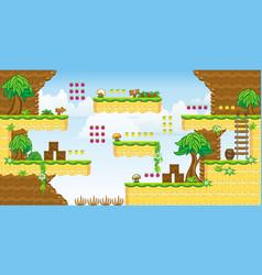 2d tileset platform game 32 vector