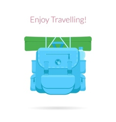 Travel blue bag vector