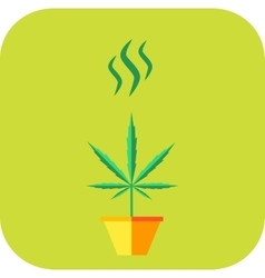 Marijuana odor icon vector