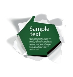 Realistic torn paper with space for your text vector