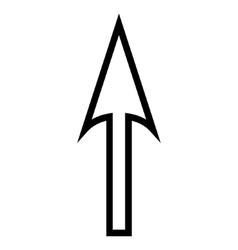 Sharp arrow up thin line icon vector