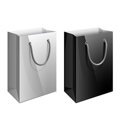 Paper bag template for the design vector