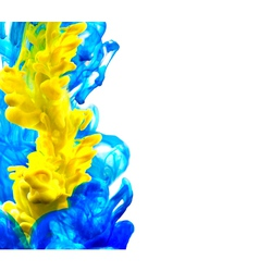 Abstract blue and yellow background vector image vector image