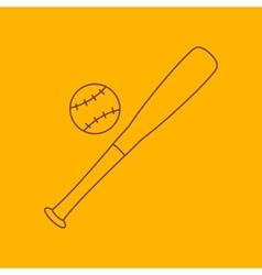 Baseball line icon vector