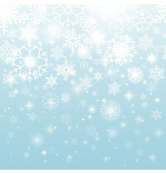 Beautiful snowflakes in seamless pattern design vector