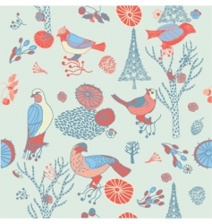 birds background vector image