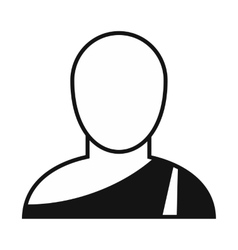 Buddhist monk simple icon vector image
