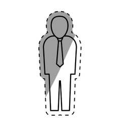Businessman executive pictogram vector image vector image