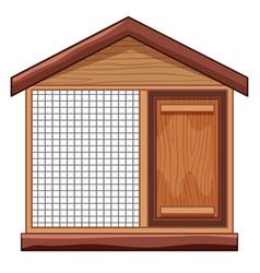 chicken coop with net vector image