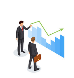 concept of presentation of the income growth vector image