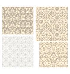 damask pattern set vector image vector image