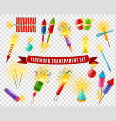 firework sparlers firecrackers transparent vector image vector image
