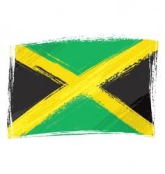 Grunge jamaica flag vector