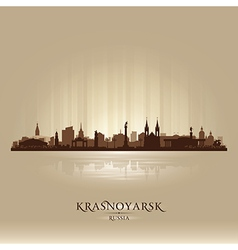 Krasnoyarsk russia skyline city silhouette vector