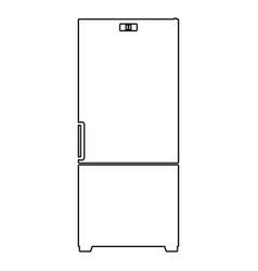 Refrigerator the black color icon vector