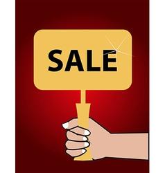 Sale board vector image vector image