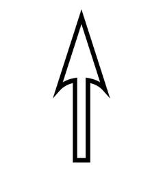 Sharp arrow up thin line icon vector