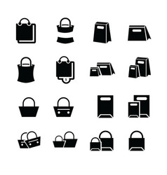 shopping bags set design vector image vector image