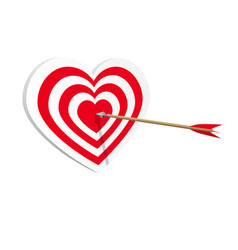 target heart icon art web amorousness concept vector image vector image