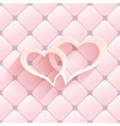 Valentine s day abstract background with cut paper vector image vector image