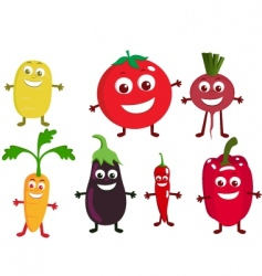 vegetable cartoon vector image vector image