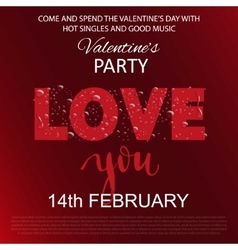 Water drops on a red background valentines day vector