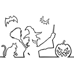 witch border vector image