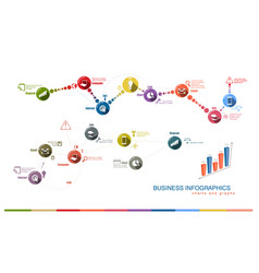 Business charts and graphs vector