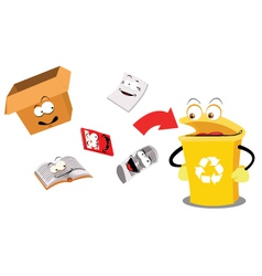 Recycling paper funny vector