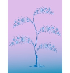 Winter tree from blue snowflakes for christmas vector