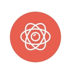 Atom thin line icon vector