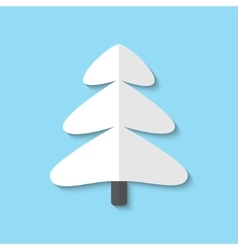 Xmas tree web flat icon vector