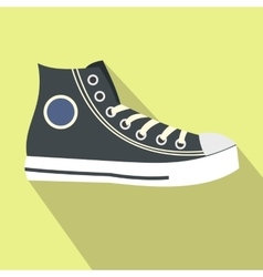 Retro sneaker flat icon vector