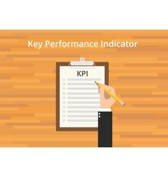 Kpi key performance indicator checklist vector