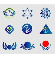 Abstract logo shapes vector image