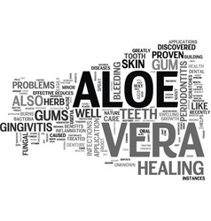 Aloe vera products text word cloud concept vector
