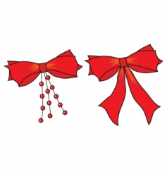 big bows of red ribbon vector image vector image