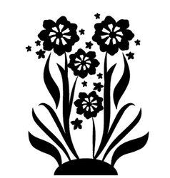 Black flowers 2 vector