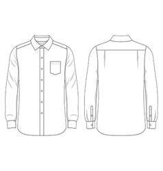 Blank mens shirt vector image